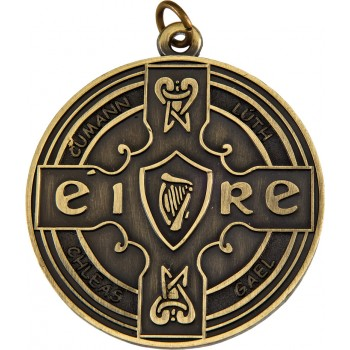 3D Deluxe Celtic Medallion ~ 52mm - Avail. In Antique Gold and Antique Silver  ~ (Euro 1.70)