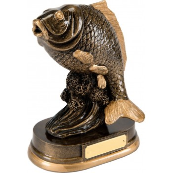 Solid Resin Quality Sea Bass Trophy ~ 19.5cm High (Euro 22.70)