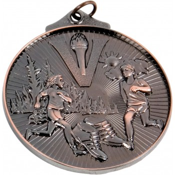 3D Athletics Medallion ~ 52mm - Available In Antique Gold, Antique Silver and Antique Bronze ~ (Euro 1.70)