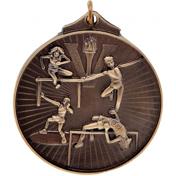 3D Athletics Medallion ~ 52mm - Avail. In Antique Gold Only ~ (Euro 1.70)