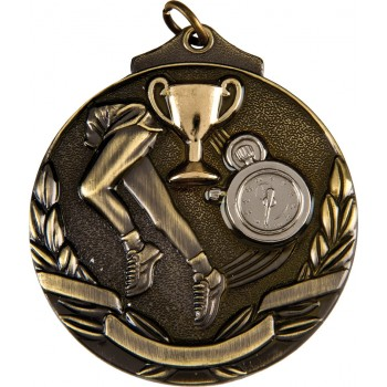 3D Deluxe Running Medallion ~ 51mm - Available In Antique Gold, Antique Silver and Antique Bronze ~ (Euro 2.00)