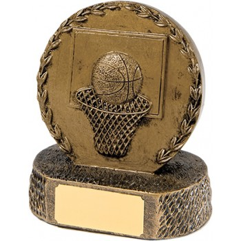 Solid Resin Basketball Plaque ~ 12.5cm High (Euro 11.20)