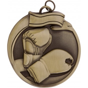 High Relief - Boxing Medallion ~ 65mm - Avail. In Antique Gold and Antique Silver ~ (Euro 3.90)