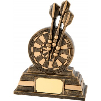 Solid Resin Darts Plaque - Avail. in 2 Sizes: 13cm (Euro 8.20) and 16cm (Euro 12.60)