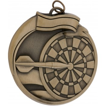 High Relief - Darts Medallion ~ 65mm - Avail. In Antique Gold and Antique Silver ~ (Euro 3.90)