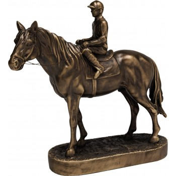 Premium Quality Horse and Jockey ~ 28.5cm High (Euro 84.00)