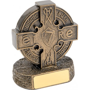 Solid Resin Gaelic Award - Avail. in 2 Sizes: 13.5cm (Euro 11.20) and 15.5cm (Euro 17.40)