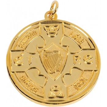 Mono-Tone GAA Medallion ~ 38mm - Available In Gold and Silver ~ (Euro 4.50)