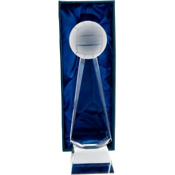 Crystal Gaelic Football Podium - Avail. in 2 Sizes: 23cm (Euro 38.60) and 25cm (Euro 42.90)