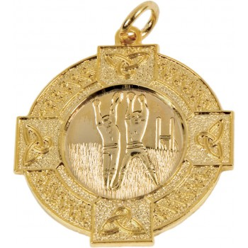 Gaelic Football - Celtic Medallion ~ 33mm - Available In Gold and Silver ~ (Euro 2.90)
