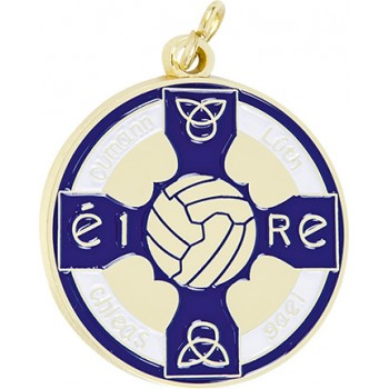 Gaelic Football - Full Colour Medallion ~ 38mm - Available In Gold and Silver,  and a Choice of Colours ~ (Euro 3.00)