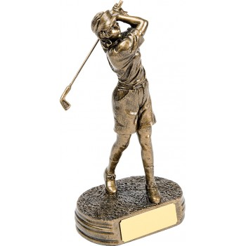 High Quality Female Golfer ~ 24.5cm High (Euro 20.00)