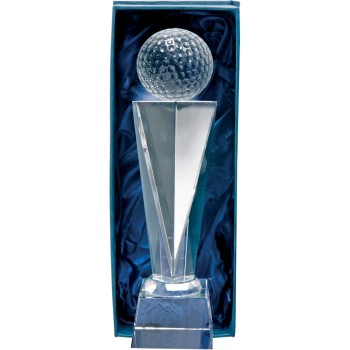 Crystal Golf Podium - Avail. in 2 Sizes: 23cm (Euro 38.60) and 25cm (Euro 42.90)
