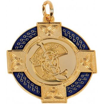 Camogie - Celtic Enamelled Medallion ~ 33mm - Available In Gold and Silver ~ (Euro 3.40)