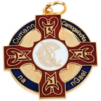 Camogie - Full Colour Celtic Gaeilge Medallion ~ 33mm - Available In Gold and Silver ~ (Euro 4.40)