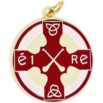 Hurling & Camogie - Full Colour Medallion ~ 38mm - Available In Gold and Silver,  and a Choice of Colours ~ (Euro 3.00)