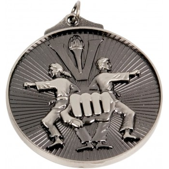 3D Martial Arts Medallion ~ 52mm - Avail. In Antique Gold and Antique Silver ~ (Euro 1.70)