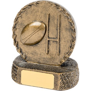 Solid Resin Rugby Plaque ~ 12.5cm High (Euro 11.20)