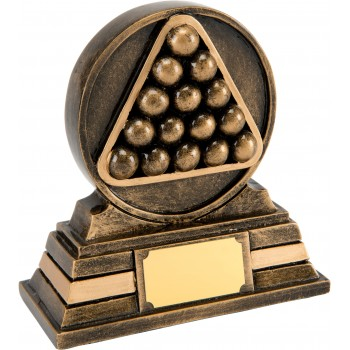 Solid Resin Snooker Plaque - Avail. in 2 Sizes: 10cm (Euro 7.80) and 13cm (Euro 11.80)