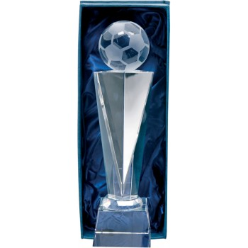 Crystal Soccer Podium - Avail. in 2 Sizes: 24cm (Euro 40.00) and 26cm (Euro 45.50)