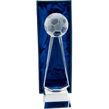 Crystal Soccer Podium - Avail. in 2 Sizes: 23cm (Euro 38.60) and 25cm (Euro 42.90)