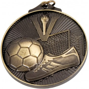 3D Soccer Medallion ~ 52mm - Avail. In Antique Gold and Antique Silver ~ (Euro 1.70)