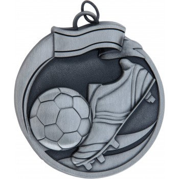 High Relief - Soccer Medallion ~ 65mm - Avail. In Antique Gold and Antique Silver ~ (Euro 3.90)