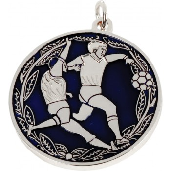 Dual-Tone Soccer Medallion ~ 38mm - Available In Gold and Silver ~ (Euro 5.30)