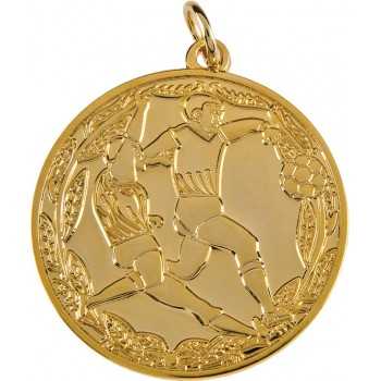 Mono-Tone Soccer Medallion ~ 38mm - Available In Gold and Silver ~ (Euro 4.60)