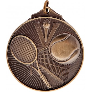 3D Tennis Medallion ~ 52mm - Avail. In Antique Gold Only ~ (Euro 1.70)